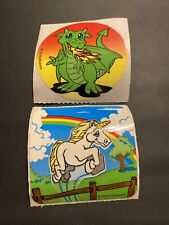 Vtg Sticker Smilemakers 90s Lot Unicorn Dragon Fantasy