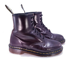 Dr. Martens Doc 1460 England Rare Vintage Cordovan Brown Leather Boots UK 8 US 9