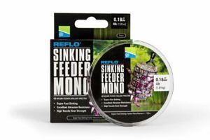 Preston Innovations Sinking Feeder Mono 150m *FULL RANGE* - Green Feeder Line