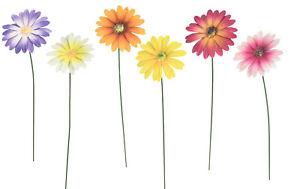 Metal Stake Flowers 6 Piece Patio Decorations Lawn Decor Garden Planter Features