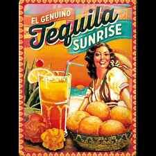 Blechschild 30 x 40 cm Cocktail Time - Tequila Sunrise, Nostalgic Art NEU
