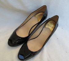 Cole Haan Air Black Patent Leather Open Toe Heel Shoe Women 10 B
