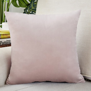 """Airi Smooth Solid Velvet Pillow COVER 18"""" x 18"""" Perfect for Sofa and Bed"""