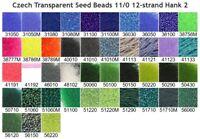 Czech 11/0 Transparent Rocaille Glass Seed Beads 12-strand Hank 2