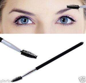1x Black Eyelash Mascara Wand Pen Eyebrow Spiral Brush Makeup Cosmetic Tool UK