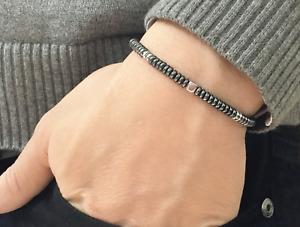 Stylish Men's Hematite Bracelet - High Quality!