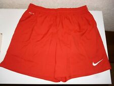 Nike Dri Fit Mens Football Training Shorts Red Size L New with tags
