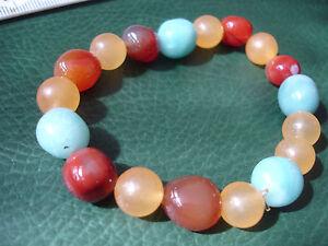 Multi-coloured multi gemstone bead Bracelet