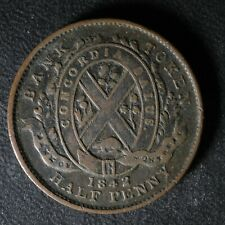 PC-1A3 Halfpenny 1842 token Province of du Canada Montreal Quebec Breton 527