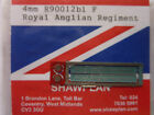 Shawplan/Extreme Etchings 4 mm Nameplate-Class 90 012bl 'Royal Anglian Regiment'