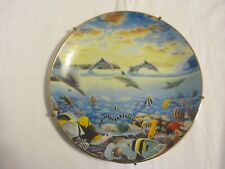 """Vintage Hamilton Collection """"Tales Of Tavarua"""" Porcelain Plate With Hanger 8"""""""
