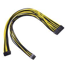 24pin Amarillo Negro Manga Larga PSU cable Evga Silverstone Coolermaster Seasonic
