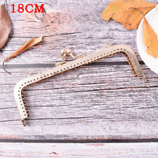Light Gold DIY Purse Handbag Handle Coin Bag Metal Kiss Clasp Lock Framehandlese 18cm