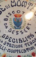 DOLCIARIA-BISCOTTI-DESSERT-CIALDE-DECORATIVA PUBBLICITARIA-TOSCANA-BARGILLI-RARA