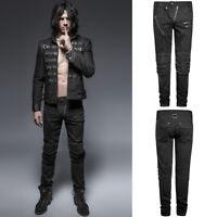 Punk Rave Mens Diesel Punk Jeans Pants Black Goth Punk Trousersn K-239