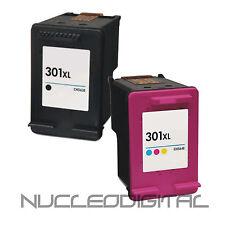 2 CARTUCHOS HP REMANUFACTURADOS 301 XL NEGRO Y COLOR DESKJET 1000 1050 1055 2050