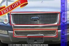 GTG 2006 - 2010 Ford Explorer 2PC Polished Overlay Combo Billet Grille Grill Kit