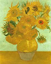 Vincent Van Gogh -  Sunflowers in a Vase  - 24'  CANVAS