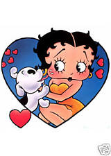 LOVE HEART BETTY BOOP IRON ON TRANSFER  CREATE T SHIRTS AS STOCKING FILLERS