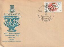 1988 East Germany cover XXVI International Olympic Day