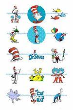 "DR. SEUSS  BOTTLE CAP IMAGES 15 1"" CIRCLES CUPCAKE TOPPER BOWS **FREE SHIPPING**"