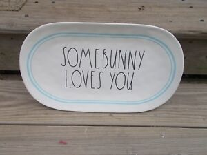 NEW RAE DUNN By Magenta Platter SOME BUNNY LOVES YOU Easter Farmhouse Farm Table
