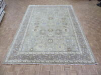 9'11 X 13'9 Hand Knotted Soft Green Sultanabad Oushak Oriental Rug G5752