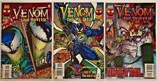 Venom The Hunted 1-3 Marvel Comic 1996 VF/NM Spiderman