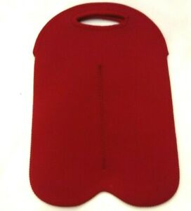 BUILT Neoprene Blend Washable Wine Bag Insulated Double WIne Carrier w/ Handles