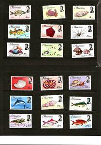 MAURITIUS (A9-53) 1969 SG382-399 FISH MARINE LIFE SET OF 18  VERY  UMM / MNH