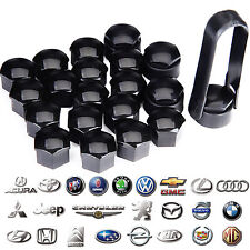 20pcs 17mm Universal Plastic Wheel Lug Bolt Nut Cover Cap Set +Removal Tool