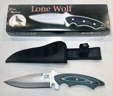"Frost Cutlery Lone Wolf Fixed 6"" Blade Bowie Knife Nylon Sheath 15-032B New"