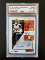 2018 Panini Cont. Denzel Ward. Rookie Card. RC. Signed. PSA 10.