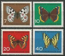 Germany (West) 1962 MNH - Butterflies - Parnassius Nymphalis Aglais Iphiclides