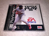 Triple Play 98 (Sony PlayStation 1, 1997) PS1 Black Label Complete Excellent!