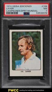 1974 Keisa Ediciones Campeones Del Deporte Mundial Tennis Laver #106 PSA 7 NRMT