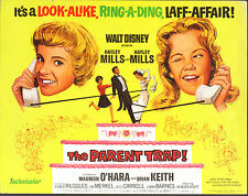 THE PARENT TRAP original DISNEY movie poster HAYLEY MILLS/MAUREEN O'HARA