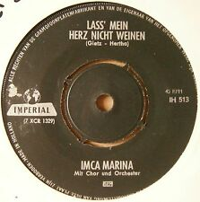 "7"" Imca Marina – Lass' Mein Herz Nicht Weinen / Melodia Hawaiiana 1963"