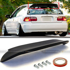 Fit 92-95 Civic 3DR Hatchback Duckbill Spoon Style Unpainted Rear Spoiler Wing