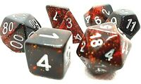 RPG Würfel Set 7-teilig Poly DND Rollenspiel dice4friends w4-w20 Tabletop Rot