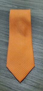 E. Marinella Napoli Orange Polk A Dots Print Silk Necktie NWT