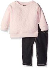 kensie Baby Girls' Fashion Top and Pant Set, Blushing Pink, 24M