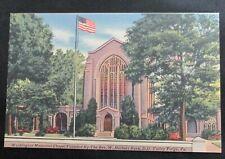 Vintage Linen Postcard Washington Memorial Chapel Valley Forge PA Unposted