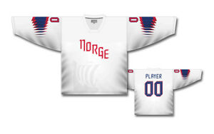 Team Norway Norge 2018 White Ice Hockey Jersey Custom Name and Number