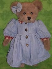 "Boyd's Bears Plush Teddy~LUCY BEA LaBRUIN~16""~QVC Exclusive~Blue Dress~"