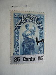 Revenues - Yukon - Summons Document - Van Dam YL13b - Double Silver Overprint