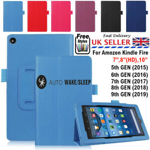 Flip Folio Book Folding Leather Stand Case For ALL 7 8 10 Amazon Kindle Fire HD
