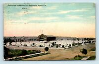 Huntington Beach, CA - EARLY 1900s VIEW OF AUDITORIUM & TENT CITY - POSTCARD