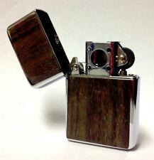 Vector Thunderbird Soft Flame Flip Top Butane Pipe Lighter in Wood Plate - 8284