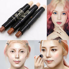 3 Colors Double-ended Highlighter Bronzer Stick Cream Powder Contour Easy to Use